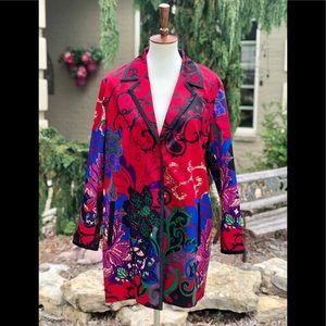 Chico's size 2 (L or 12) multi color coat jacket
